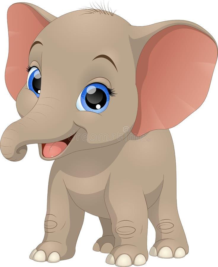 Śliczny śmieszny dziecko słoń royalty ilustracja