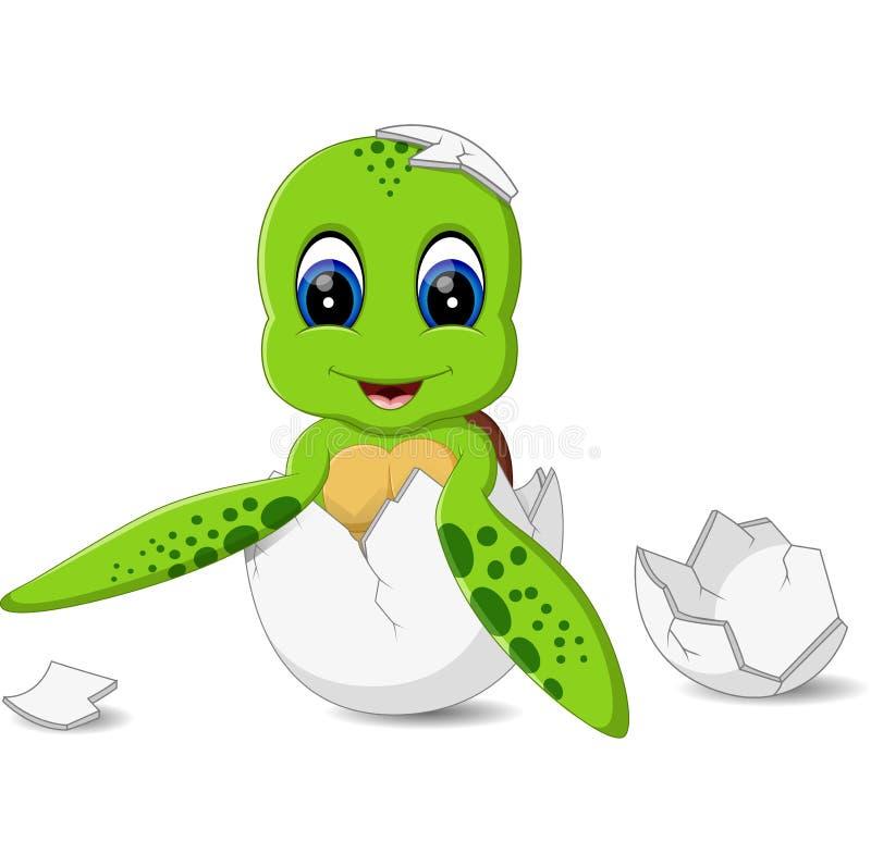Śliczny żółwia caroon royalty ilustracja