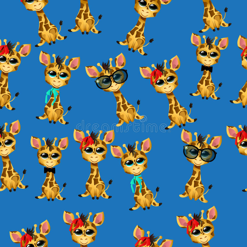 Śliczny żyrafy dziecko royalty ilustracja