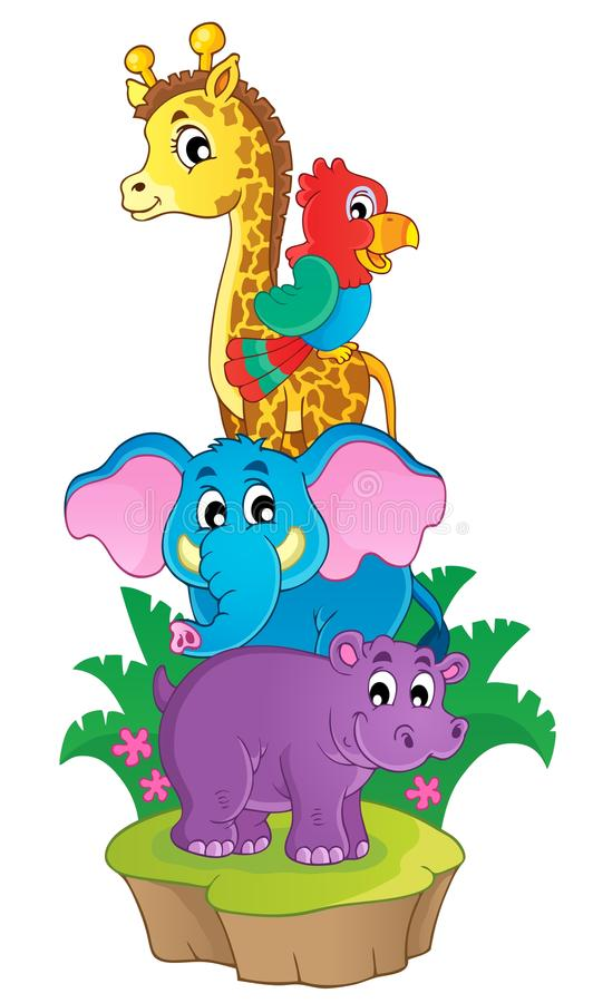 Śliczny Afrykański zwierzę tematu wizerunek 3 royalty ilustracja
