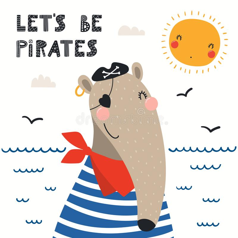?liczny anteater pirat ilustracji