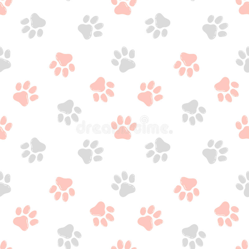 Śliczny bezszwowy wzór z łapa drukami Zwierzęcy tło obraz royalty free