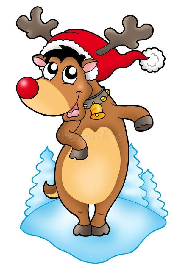 śliczny Boże Narodzenie renifer royalty ilustracja
