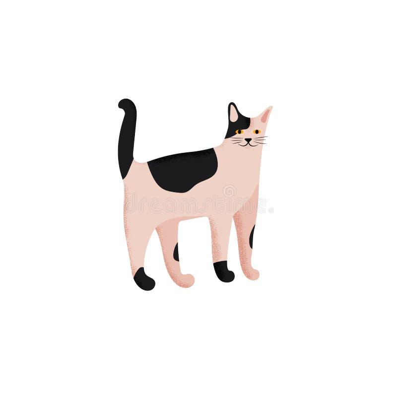 Śliczny charakter kreskówki styl kot Ikona domowi metis hoduje dla różnego projekta royalty ilustracja
