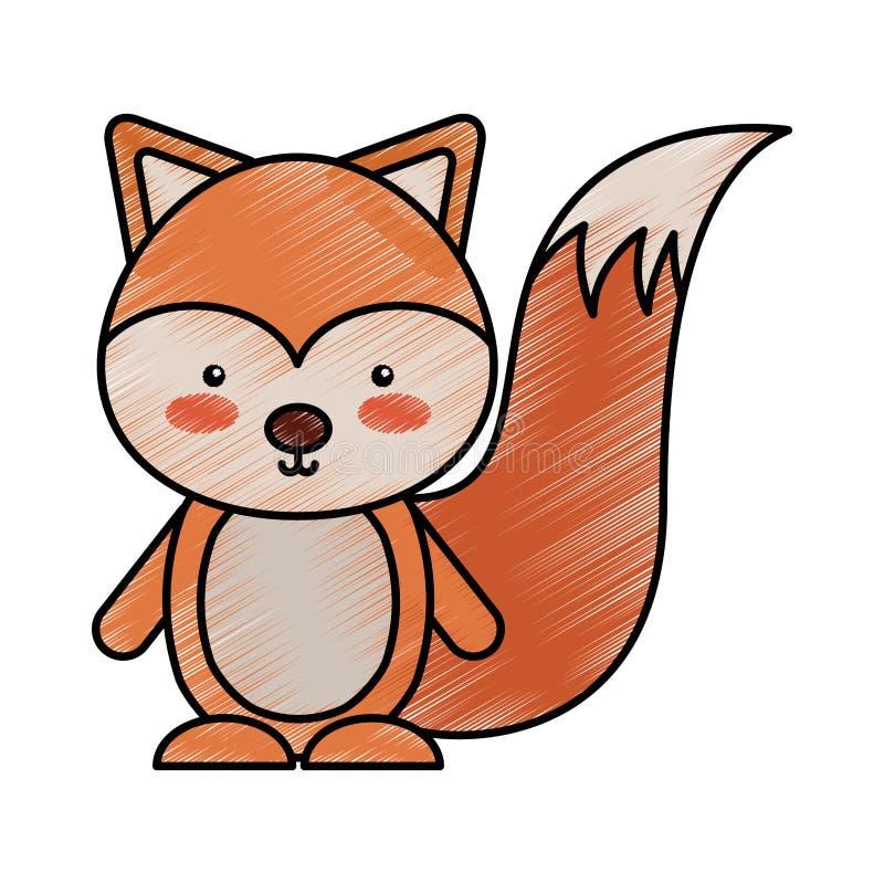 Śliczny chipmunk lasu zwierzę ilustracji