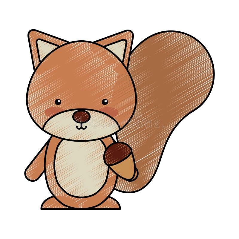 Śliczny chipmunk lasu zwierzę ilustracja wektor
