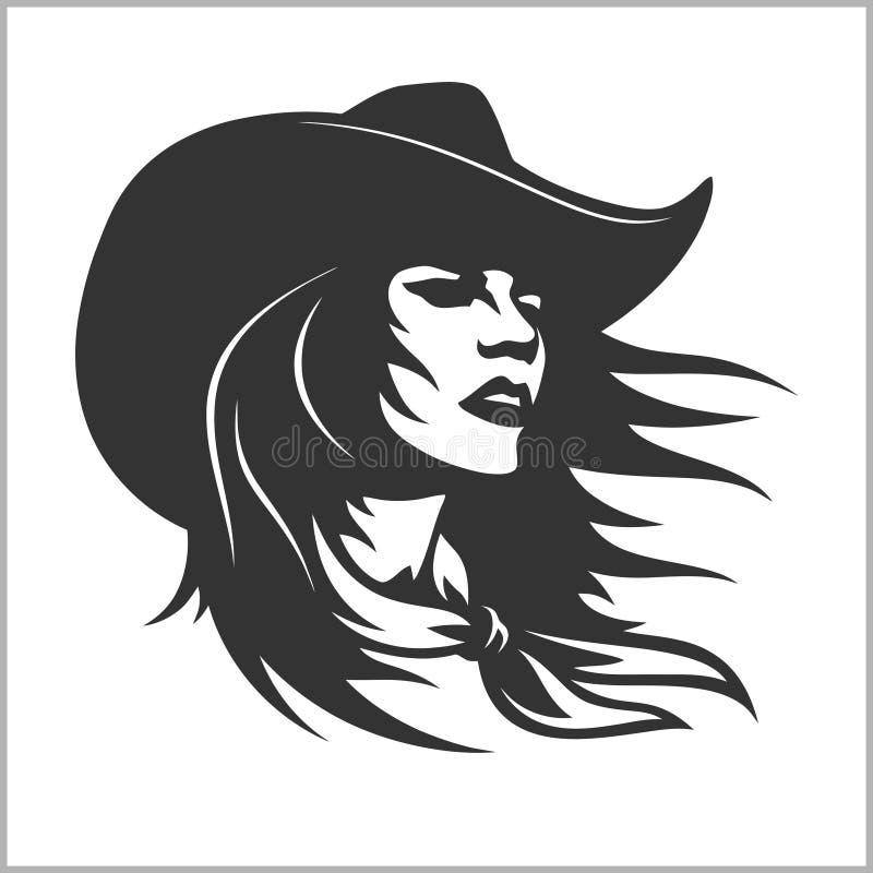 Śliczny Cowgirl 2 - Retro klamerki sztuka royalty ilustracja