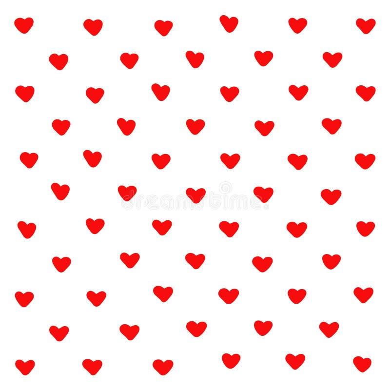 Śliczny czerwony serce abstrakcji tło Geometryczni tekstury serca kszta?ty Dla wzoru, kartka z pozdrowieniami, t koszulowi druki, ilustracji