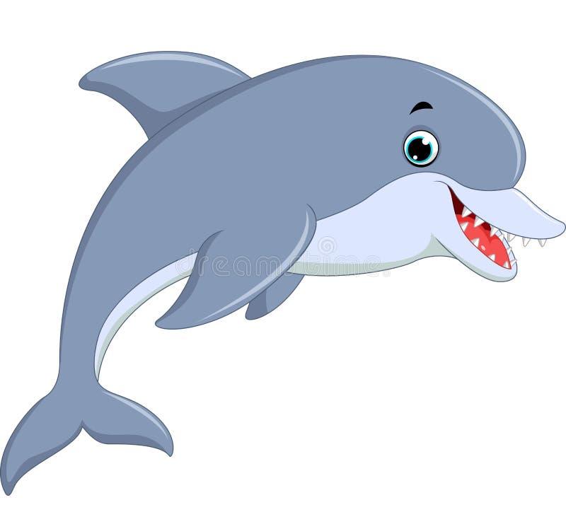 Śliczny delfinu doskakiwanie ilustracji