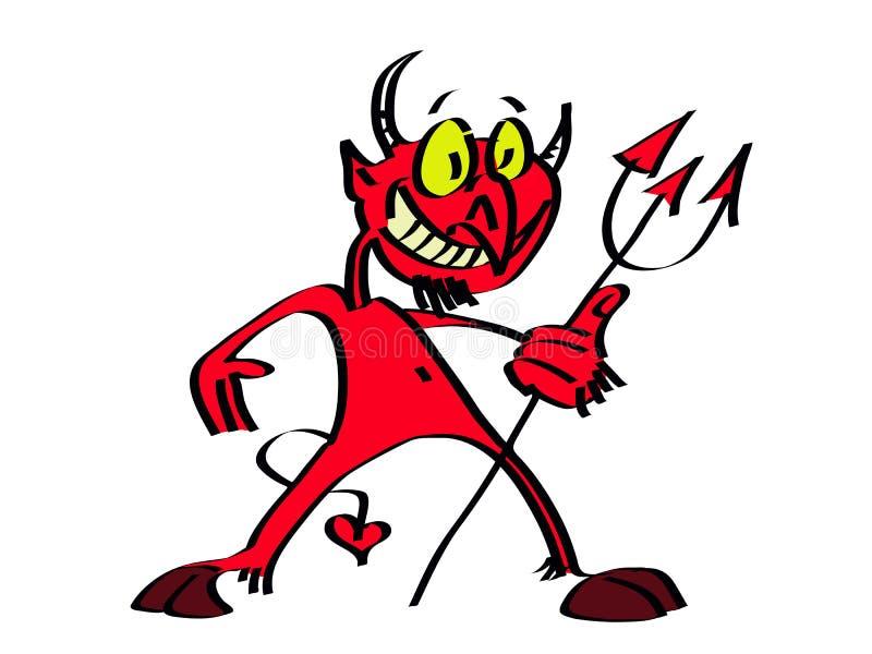 śliczny diabeł ilustracja wektor
