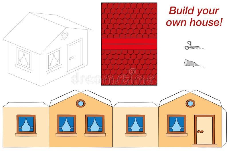 Śliczny Domowy szablon ilustracji