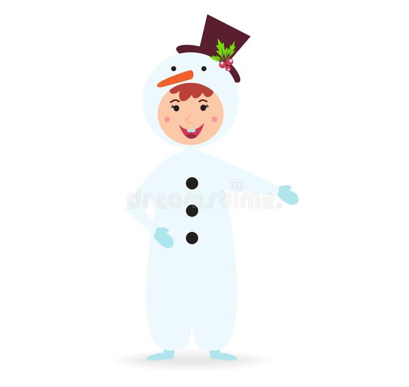 Śliczny dzieciak jest ubranym Bożenarodzeniowego kostiumowego wektor ilustracja wektor