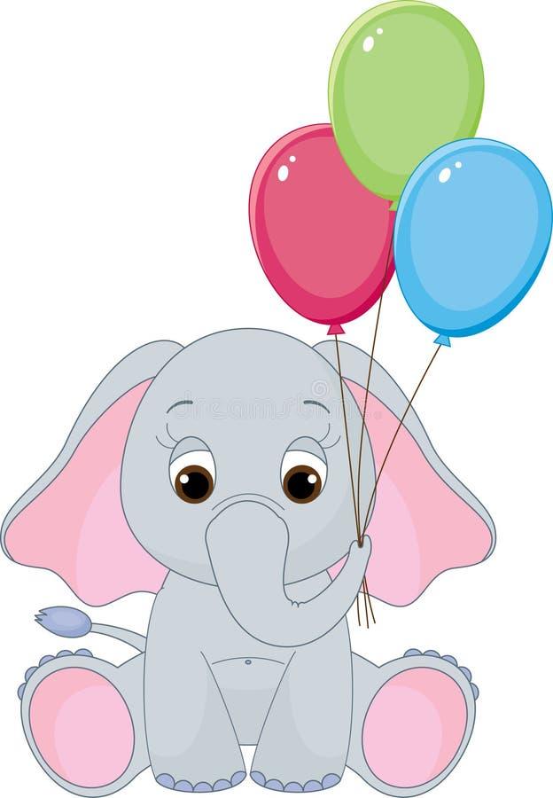 śliczny dziecko słoń royalty ilustracja