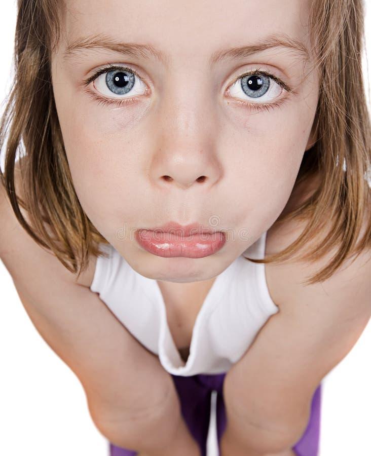 Śliczny dziecko z Smutną twarzą obrazy stock