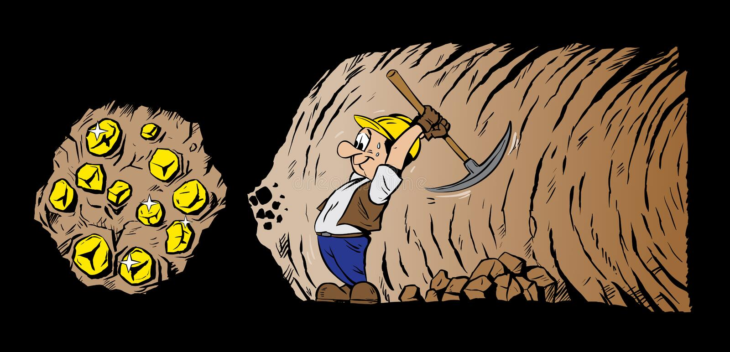 śliczny górnik royalty ilustracja
