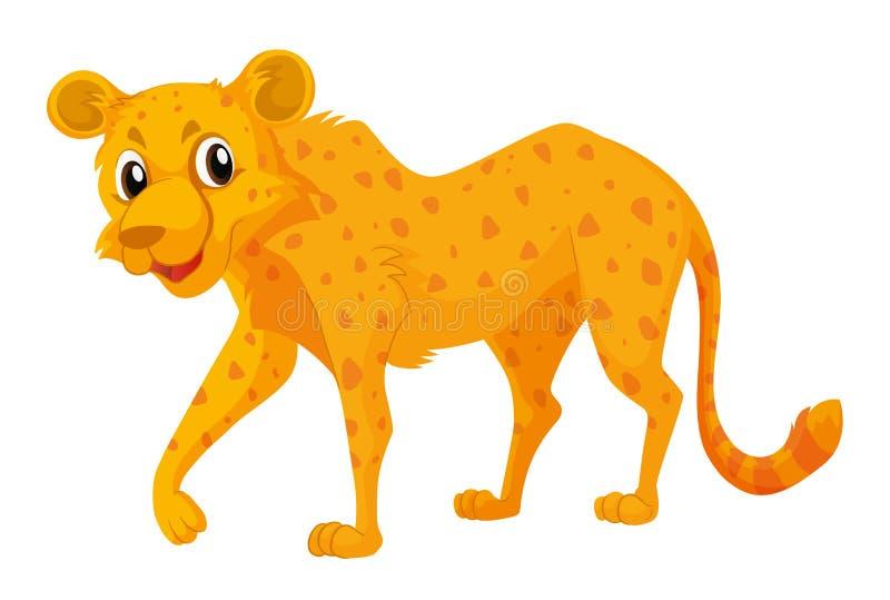 Śliczny gepard na białym tle royalty ilustracja