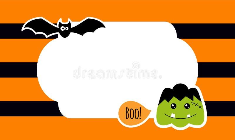 Śliczny Halloweenowy tło z majcherami wektor ilustracja wektor