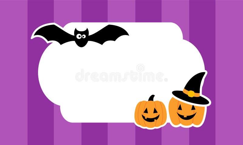 Śliczny Halloweenowy tło z majcherami wektor ilustracji