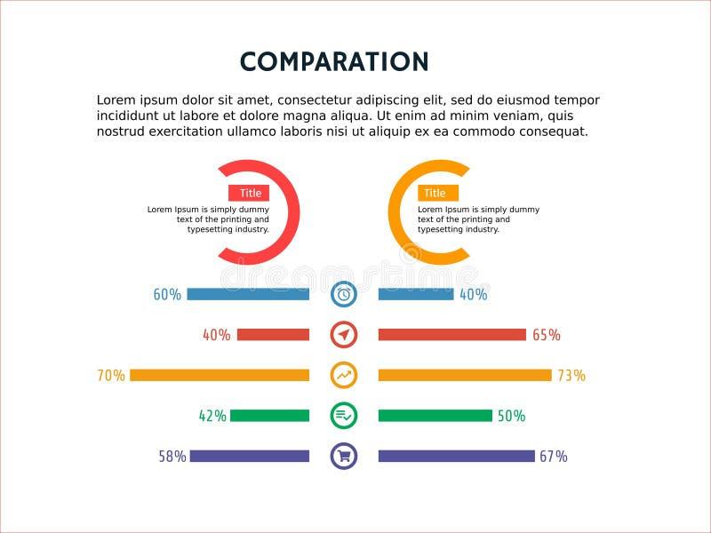 Śliczny infographic szablon i Powerpoint fotografia royalty free