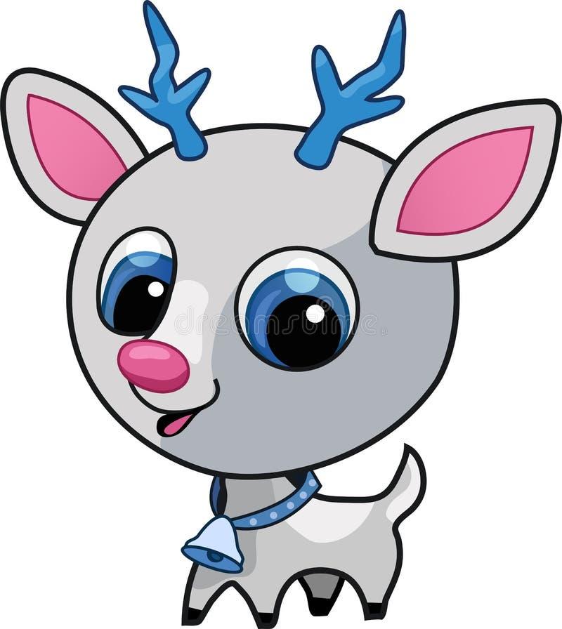 śliczny jeleni ilustracyjny Rudolf ilustracja wektor