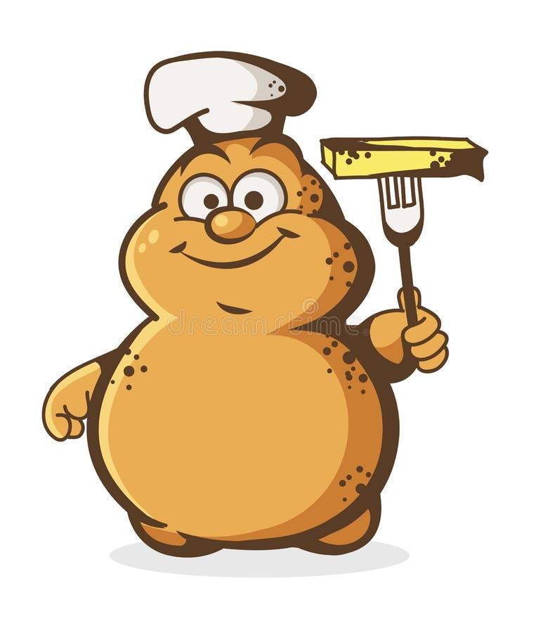 Śliczny kartoflany szef kuchni ilustracji