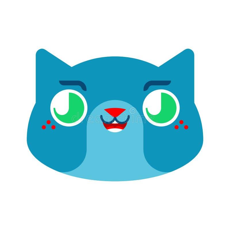 Śliczny kawaii kot odizolowywający śmieszny zwierzę domowe kreskówki styl ?artuje charakteru Dzieci stylowi royalty ilustracja