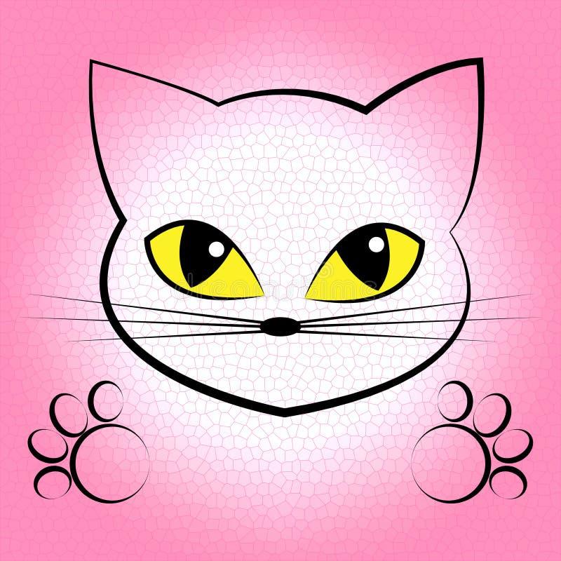 Śliczny kot Wskazuje zwierzęcia domowego Puss I kiciuni ilustracja wektor