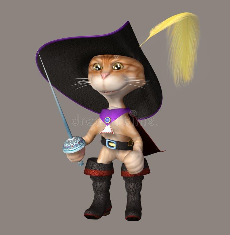 śliczny kota kapelusz ilustracji