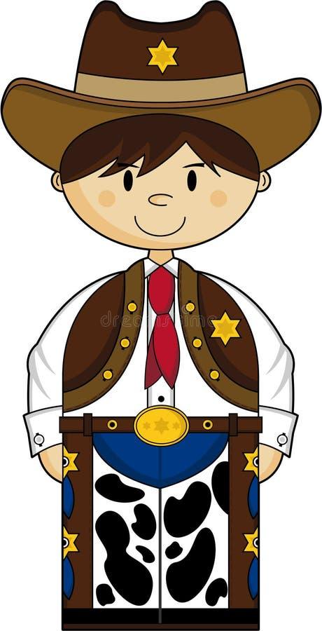 Śliczny Kowbojski szeryf ilustracji