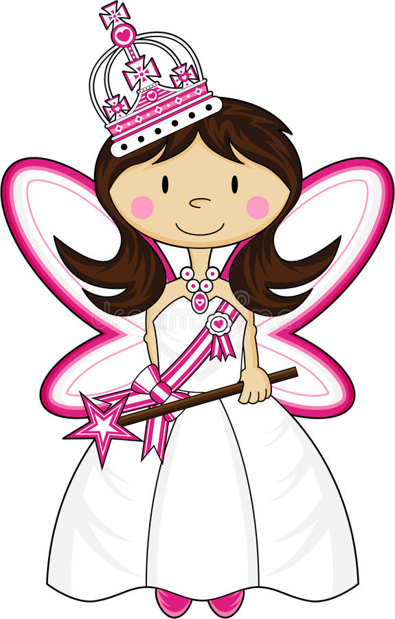 Śliczny Królewski Princess ilustracja wektor