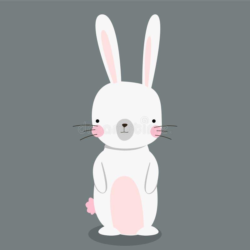 Śliczny królik odizolowywający Szczęśliwy Easter projekt wektor ilustracji