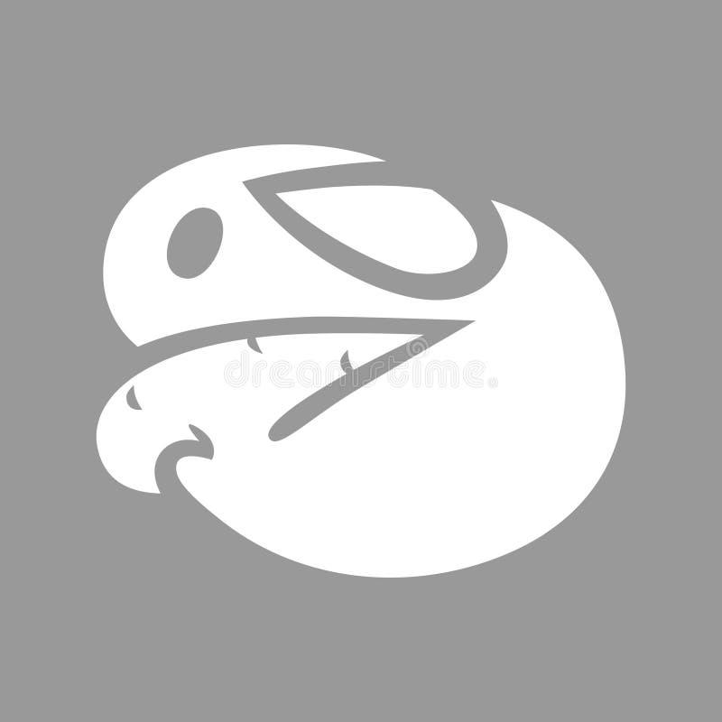Śliczny królik z marchwianym symbolem, ikona ilustracji