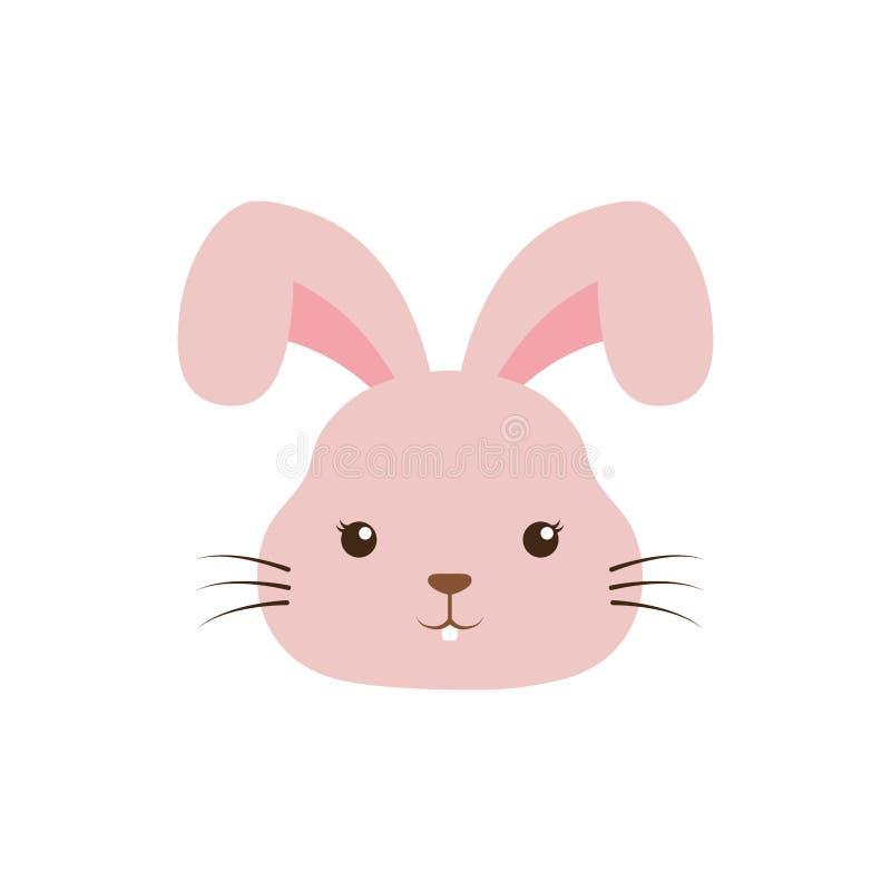 Śliczny królika kawaii styl ilustracja wektor