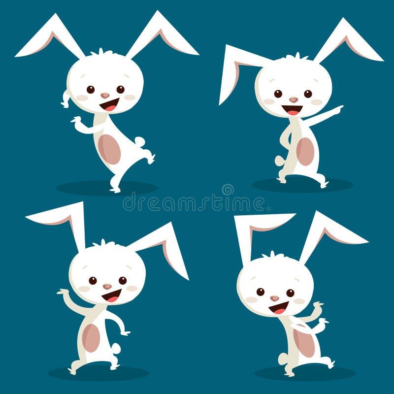 śliczny królika taniec ilustracja wektor
