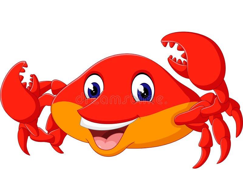 Śliczny krab royalty ilustracja
