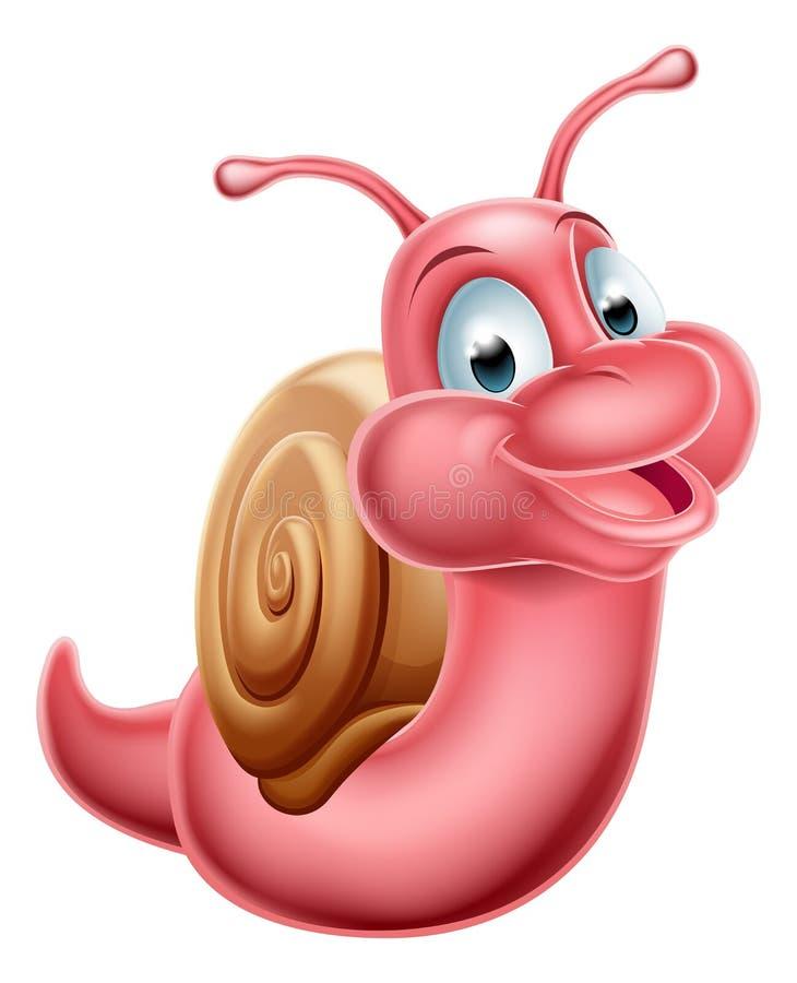 śliczny kreskówka ślimaczek ilustracji