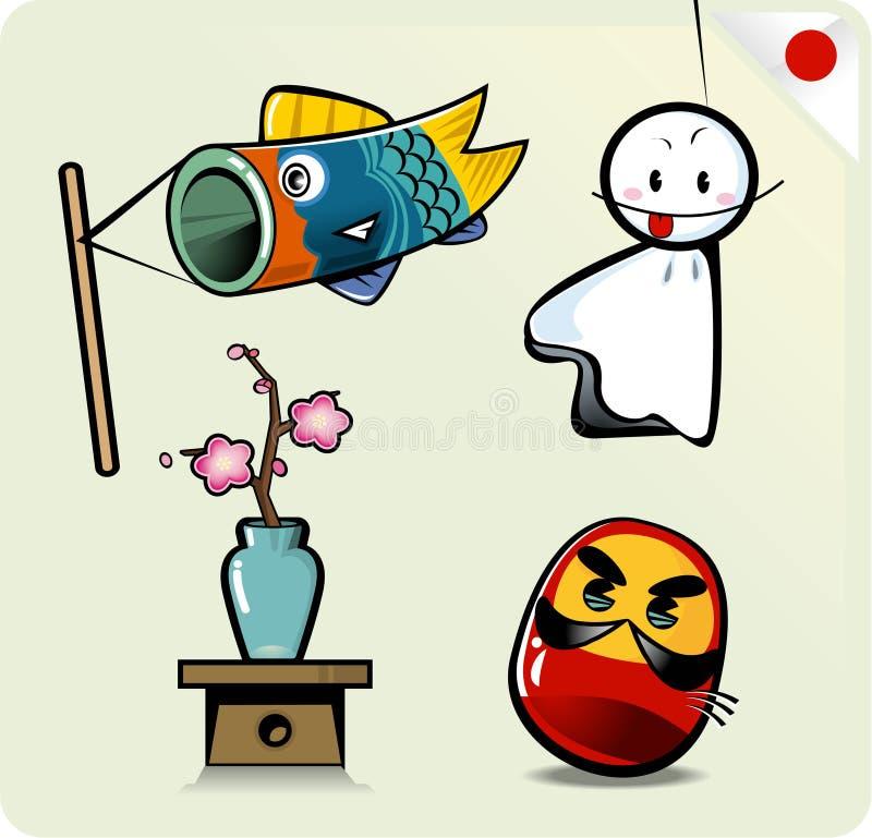 śliczny kreskówka japończyk ilustracji