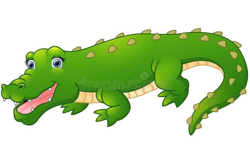 Śliczny kreskówka krokodyl ilustracja wektor