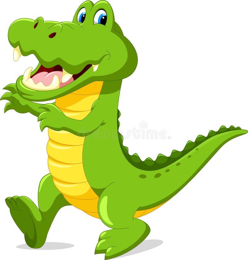 Śliczny kreskówka krokodyl ilustracji