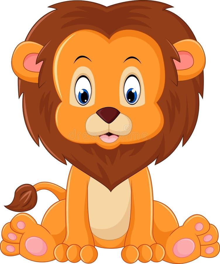 śliczny kreskówka lew ilustracja wektor