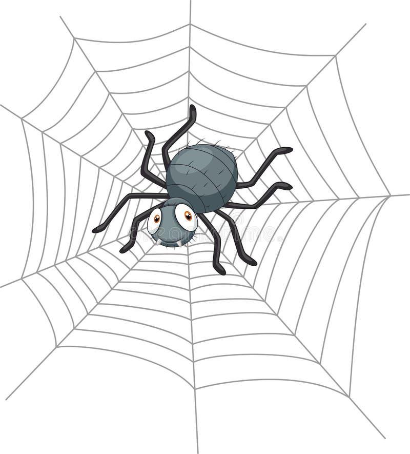 Śliczny kreskówka pająk ilustracji