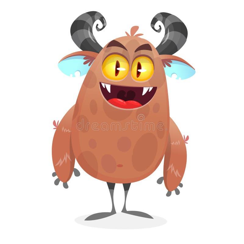 Śliczny kreskówka potwora yeti Wektorowy Bigfoot charakter ilustracja wektor