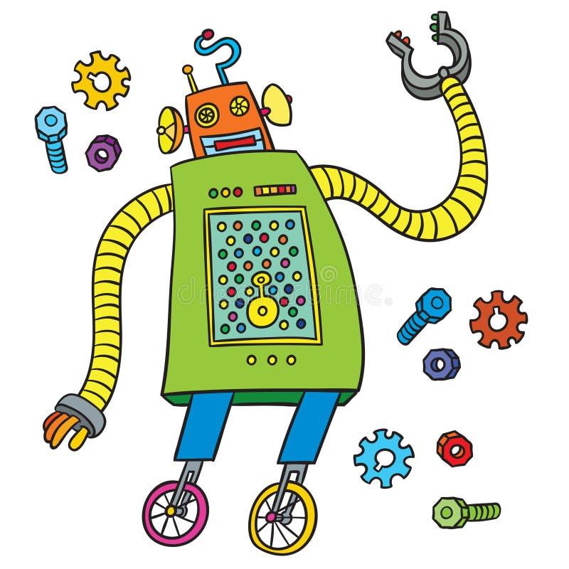śliczny kreskówka robot ilustracji