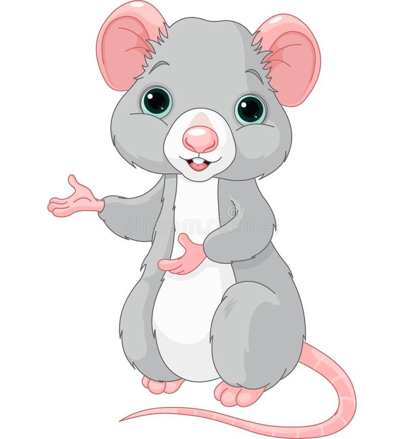 Śliczny kreskówka szczur ilustracja wektor