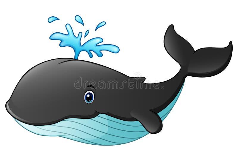 śliczny kreskówka wieloryb royalty ilustracja