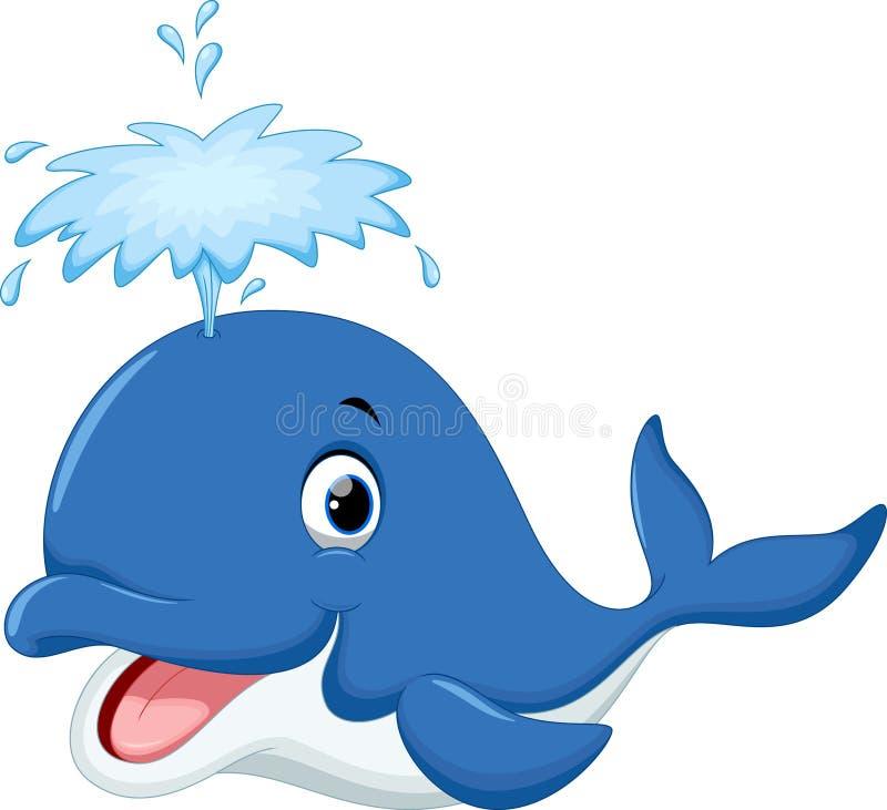 śliczny kreskówka wieloryb ilustracji