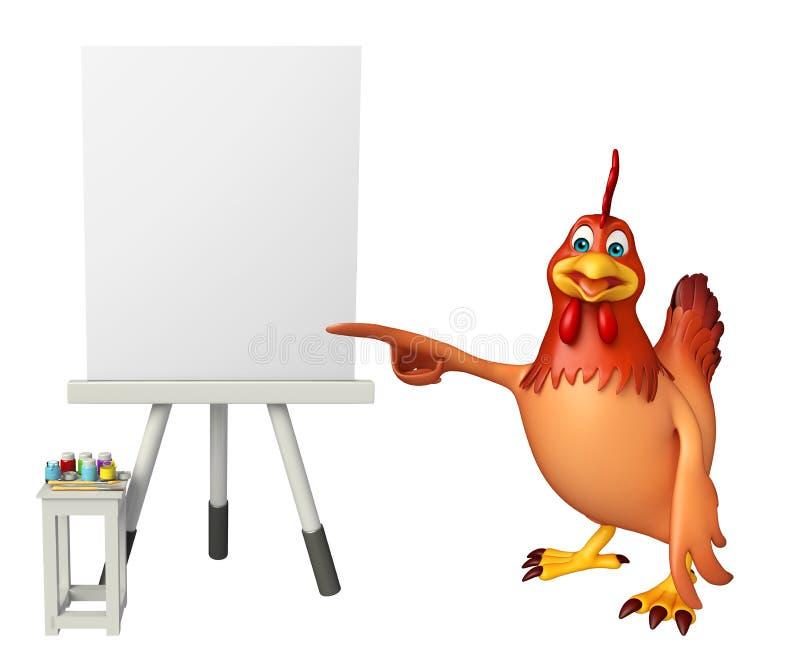 Śliczny kurczaka postać z kreskówki ilustracja wektor