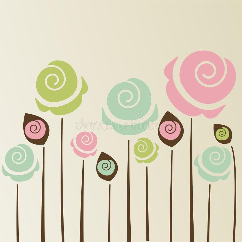 Śliczny kwiatu tło ilustracja wektor