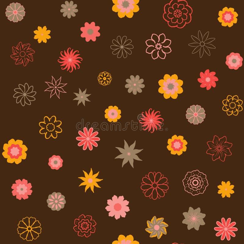 Śliczny Kwiecisty wzór w małym kwiacie Ditsy druk Motywy rozpraszali przypadkowego bezszwowa konsystencja Elegancki szablon dla f ilustracji