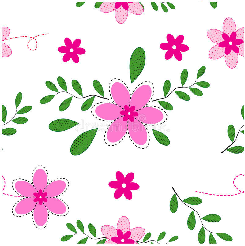 Śliczny Kwiecisty wzór w małym kwiacie Elegancki szablon dla fas royalty ilustracja